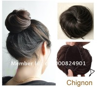 Free Shipping-Brand New fashion ladies' synthetic Chignon hair extension Hair Bun-4 colors available,5pcs/lot -Hot sale!