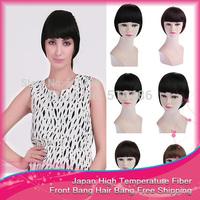 New 10 Colors available  Neat front bang hair bang extension clip in  bangs synthetic hair bangs hair fringe Free shipping