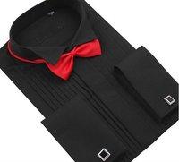 Men Tuxedo Shirt  Wedding  Best Selling   long Sleeve  shirts   white  black  3 color  synthetic  XS S M  L XL XXL XXXL