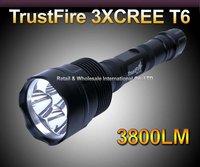Super-High Power TrustFire CREE XM-L 3800-lumens 5-Mode 3*T6 LED Flashlight Torch Lamp