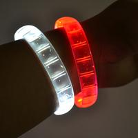 Free shipping 60/lot 24*1.5cm 4color led bracelets flashing Multicolor bracelet blinking  bracelet for party supplies