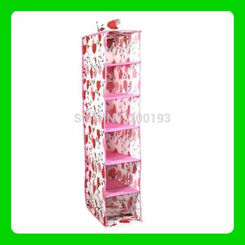 SMILE MARKET Free shipping Rose  Flower Hanging storage box(Color: Pink)