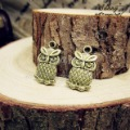 Min.order $10(mix order)Bronze Plated(20PCS) Jewelry Accessory Owl Charms(2817#) 8*15 mm