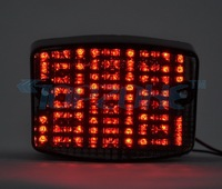 SMOKED Lens LED Motorcycle Tail Light Brake Light For KAWASAKI ELIMINATOR 125/600 86-05 / VULCAN 750 86-03