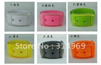 Wholesale Fashion Silicone belt new style Fashion candy color belt Silicone Jelly Belt  free shipping