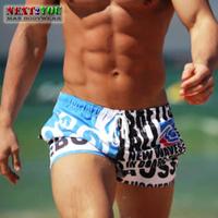 Free Shipping!!-Mens Board Shorts/Men Beachwear/Sexy Beach Pants/Blue (N-090)