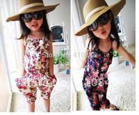 Kids Clothes Girls' overalls Jumpsuits girls pants /Floral pants Piece pants 10 pcs lot