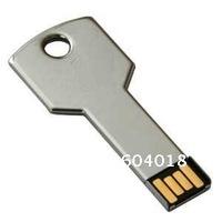 Free shipping Free logo metal key shape  USB drive USB key usb drive 1G 2G   4G 8G 16G