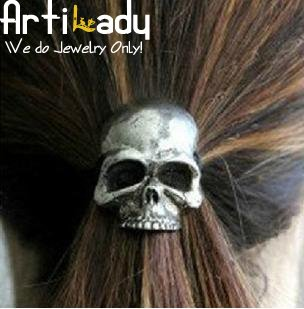 Artilady  CF12032203 skull Hinged Ponytailer hair accessories fashion2012  new jewelry