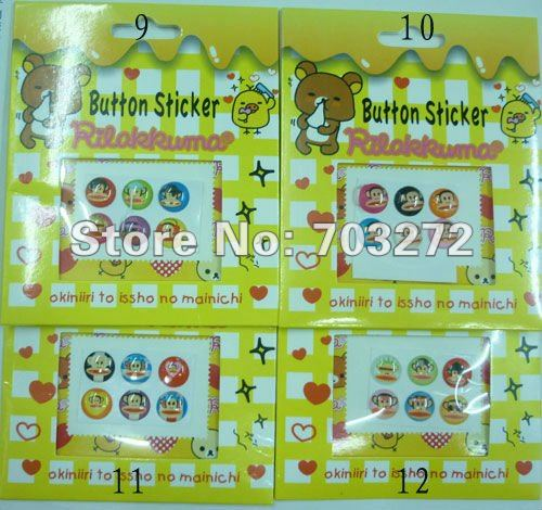 NEW!Button Stickers for iPhone.For iPhone Button Stickers.Crystal Button Stickers.Retail Package.6pcs per pack,50packs per lot