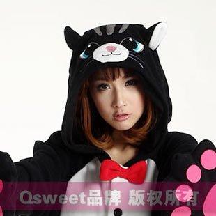 Kigurumi partido pijama cosplay gato negro para halloween - Disfraces el gato negro ...