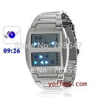 2012 NEW HOT fashion Templar - Fashion Japanese Inspired Blue LED Watch Electronic watch100pcs/ lot  Freeshipping