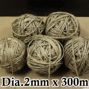 Wholesale Dia.2mm x 300m Jute pet tie for gift packing, Hemp rope, hang tag rope, DIY Hemp cord Free shipping