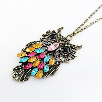 2015 New Fashion Vintage Accessories, All-match Long Design Owl Necklace  Wholesale 66N81
