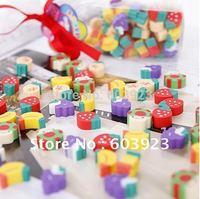 wholesale , Fruits eraser, cute expression style fashion model eraser   cartoon rubber, funny eraser Eraser Free fast shipping