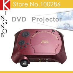 Portable DVD Projector 10 lumens HD 720P projector with DVD playback 480*240(China (Mainland))