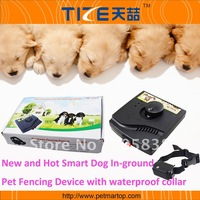 Free Shipping! !Smart Dog In-ground Pet Fencing System TZ-PET227  With Waterproof Collar.MOQ 1 Pcs