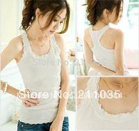 Hot Sale wholesale 5colour100%cotton lady Strander vest  ladies long T-shirt/sex tank top  cotton tank top  tank top R96 A