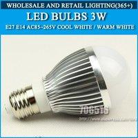 LED Bulbs E27 3w 210lm AC85-265V Warm White/Cool White Free shipping/DHL