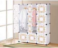 Interlocking 16 pairs Cube shoe organizer room storage in many colors