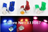 200 X T10 1W 1 SMD 194 168 High Power LED Light Bulb wedge bulb W5W License Plate light W5W 194 168-Red ,Blue,Green,White,Yellow