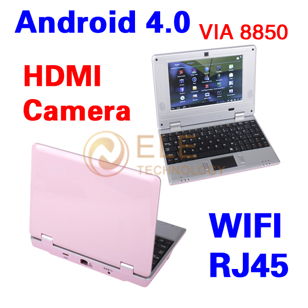 7 inch VIA 8850 CPU 512M 4GB Android 4.0 Wifi HDMI Camera cheap laptop(China (Mainland))