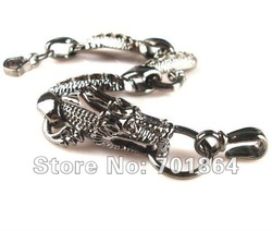 Fashion Jewelry Vintage Chinese Dragon Bracelet Design Black Finished Color Men &#39;s Fashion Free Shipping(China (Mainland))
