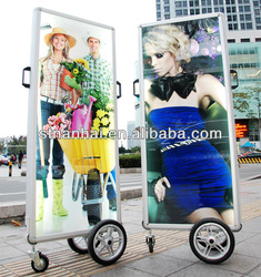 J2-581 New media indoor&outdoor advertising billboard structure with lithium battery(China (Mainland))