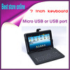 USB Keyboard Leather Cover Case Bag for 7&quot; Tablet PC MID PDA VIA 8650,Free Shipping