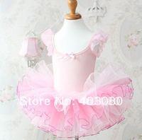 Hot sales pink Girl's ballet skirt,3y-8years kid dress,kid's TUTU skort 4 pcs wholesale&Free freight
