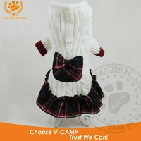 """My Pet "" brand double knit dog sweater with hood , nice check skirt style , 10pcs /lot with free shipping cost !"