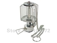 mini glass cover camping gas lantern tent light outdoor lamp