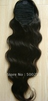 Boday Wave Natural color Virgin Brazilian Hair Extension( hair Ponytail)