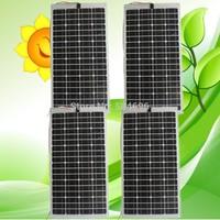 4 X 80W Semi-Flexible solar panels panel for car boat varavan CE, total 320w