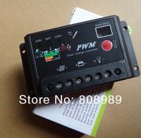 HOT Sale! 10A Solar Controller For Solar System 12V/24V Auto Voltage Regulator For Solar Panel Batteries 6pcs/lot Free Shipping
