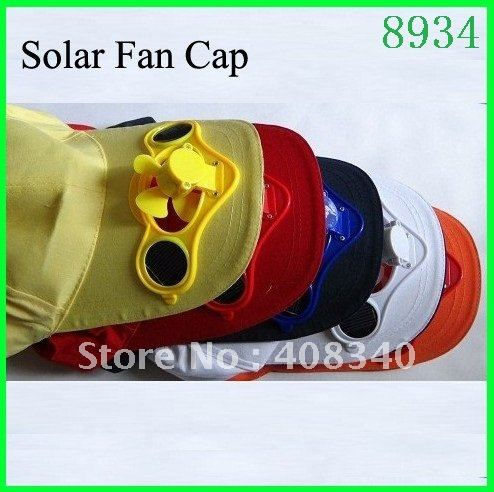Solar Cooling Fan Cap+Baseball Cap+Sports Hat+Camping Hat+Sun Hat+Solar Cooling Fan Cap+Solar Panel Fan 5pcs/lot Free Shipping