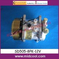 Auto ac compressor  universal SD505 compressor (12V 8PK) with good price