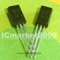 20 Pairs 2SD667AC + 2SB647AC TO-92L 2SD667 2SB647 D667AC B647AC  D667 B647 Transistor Silicon Epitaxial