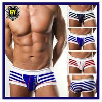 Free shipping! New 2014 men High quality men underwear fashion brand cuecas stripe men boxers cotton boxer short 3 colors(N-167)