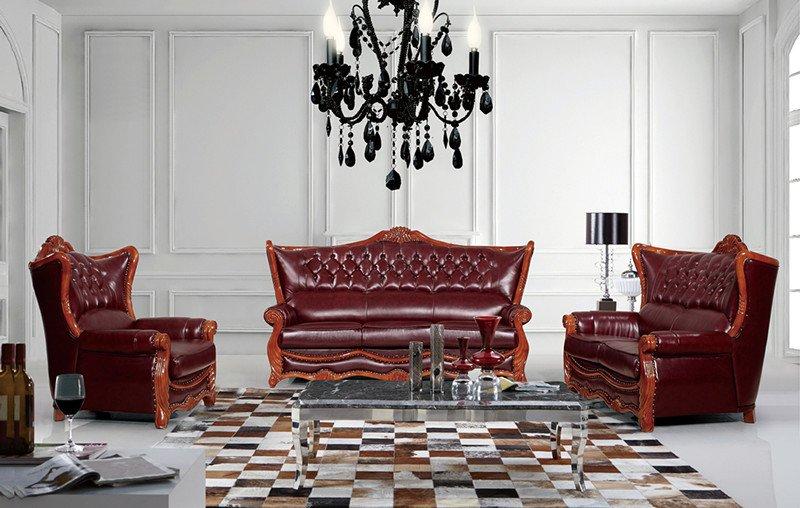 ايطاليا والجلود أريكة الكلاسيكية، مع