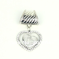 12pcs/lot 2013 hot selling woman Rhinestone alloy necklace scarf heart charm pendant, Jewelry scarf accessories, factory supply