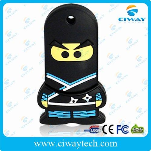 free shipping wholesale 10pcs/lot 4GB cartoon ninja memory stick usb(China (Mainland))
