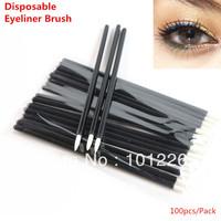 Professional 100pcs One-off Eyeliner Brush Disposable Eyeliner Wand Applicator Free Shipping