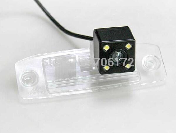 4 из светодиодов ночного видения специальный автомобиль камера заднего вида обратный резервного копирования камера для Hyundai Elantra / соната NF / Accentt / Tucson / Terracan
