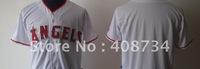 Free shipping-Los Angeles Angels #Blank red/white/grey jersey,Angels jerseys,baseball jerseys