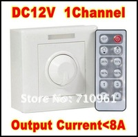 Free shipping 12-key Infrared Dimmer DC 12V output constant voltage LED remote dimmer PWM output