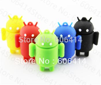 2gb 4gb 8gb 16gb 32gb 64gb usb flash drive pen drive memory stick cartoon android robot drop free shipping