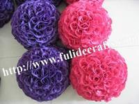 30cm silk flower wedding kissing ball optional-color-plastic inner