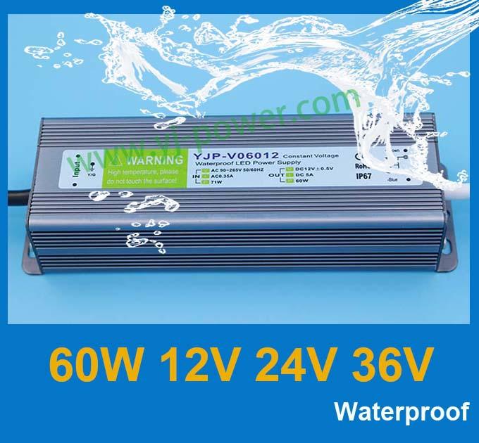 Трансформатор освещения YONGJIA POWER transformers12v 5a 24v 2.5A 60w, 24 60w, Fedex/DHL, 10pcs/lot YJV-60-12,YJV-60-24,YJV-60-36