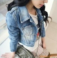 women's fashion denim jacket women's jean jacket denim coat Size-S/M/L